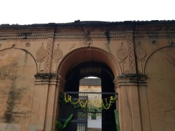 The main entrance to the fort has huge doors with spikes at the top to poke the eyes of enemy elephants charging the fort