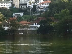 Our hotel from across the lake
