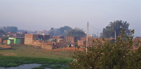 Typical dwellings seen from the road