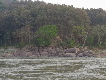 Note the tide marks on the rocks. The river is small now, but monsoon is coming.