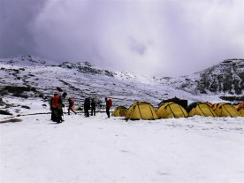 Our high camp as it was when we got there.