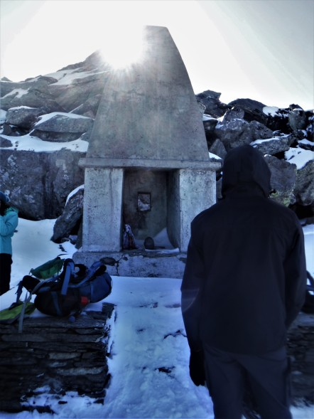 The temple just below summit