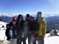 Elsa, Jeremy, Me, Ganesh, and Geet.