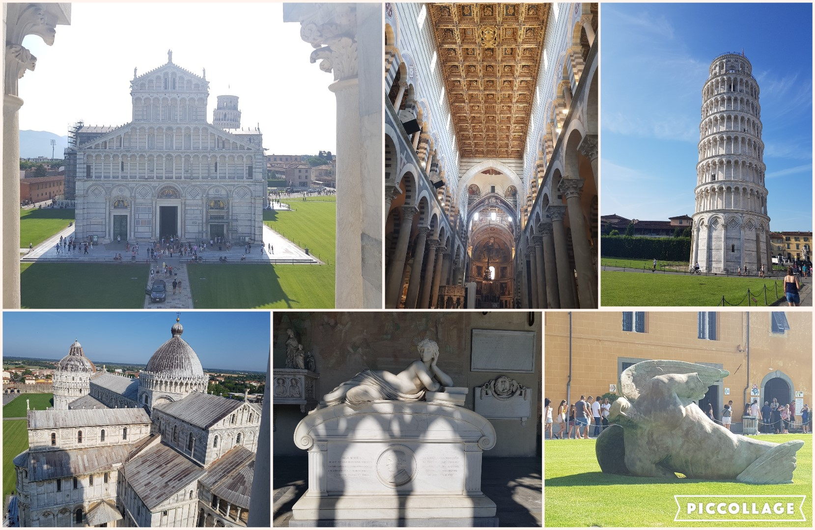 Collage Pisa tower