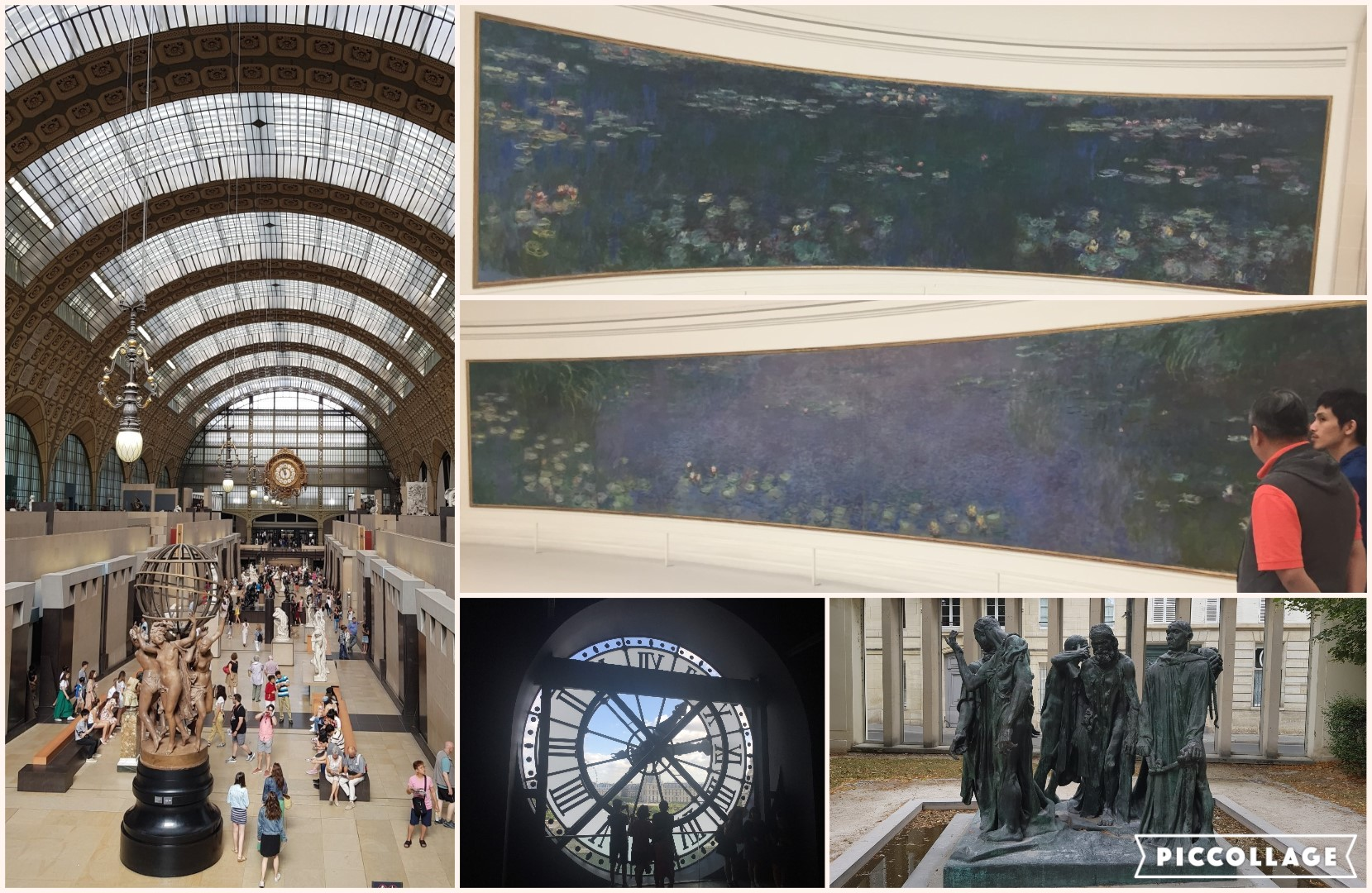 Collage Paris museums 2